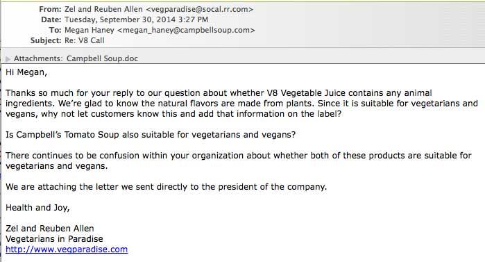 Vegetarians In Paradise Is V8 Vegetable Juice Vegan Campbell S